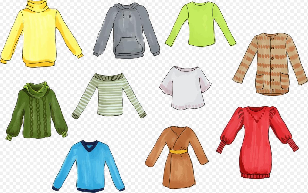 druhy oblečení