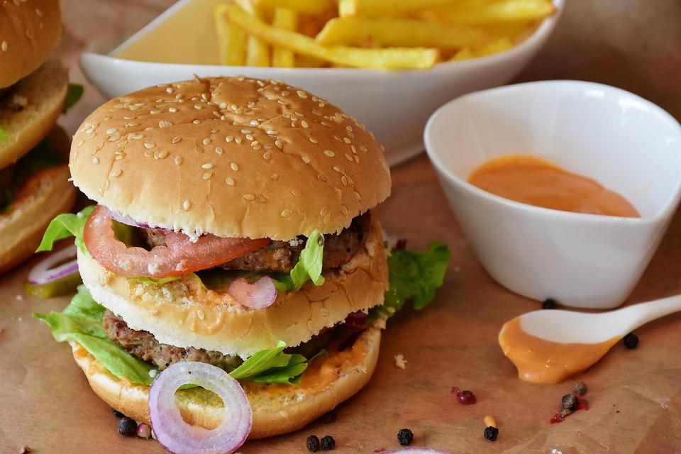 hamburger hranolky