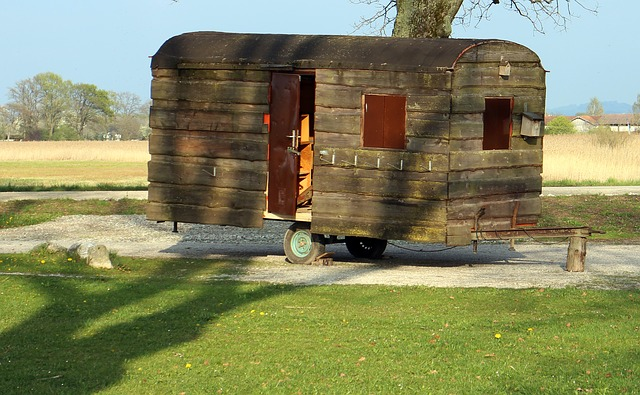 dřevěná maringotka